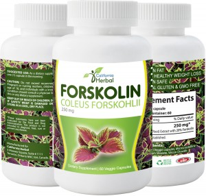 California Herbal - Forskolin - bottles